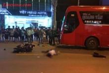 Sơn La: Xe máy đấu đầu xe khách một người chết thảm